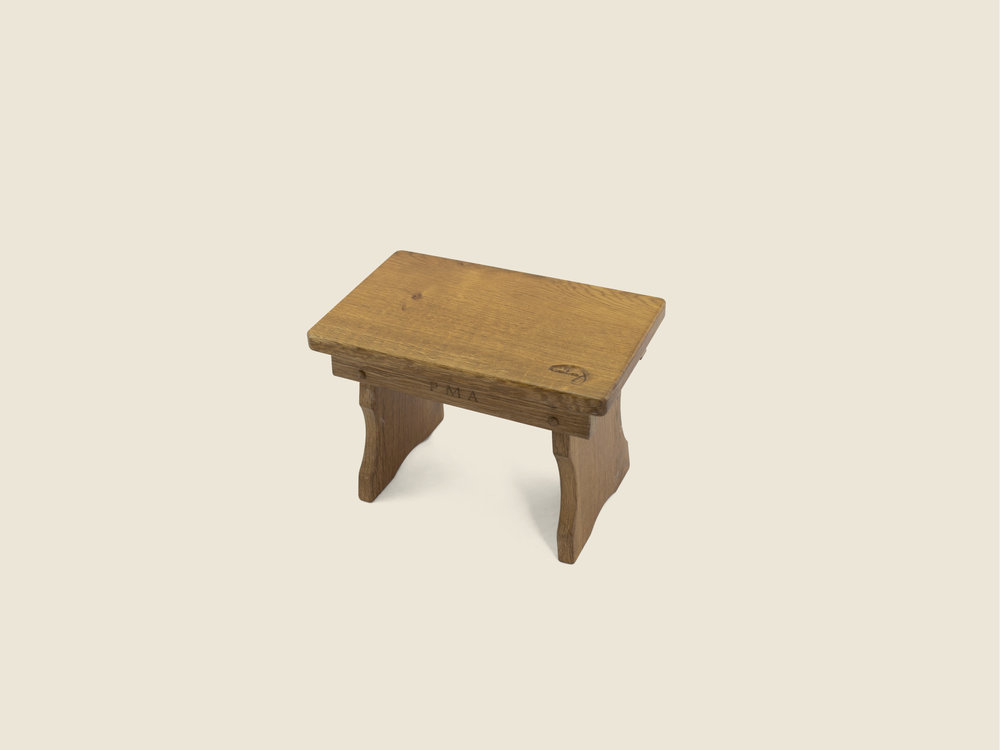 BF1110 Oak Christening Stool