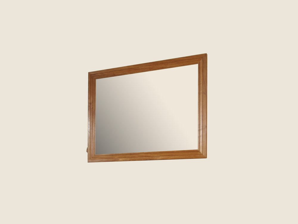 BF1116 Oak Rectangular Mirror