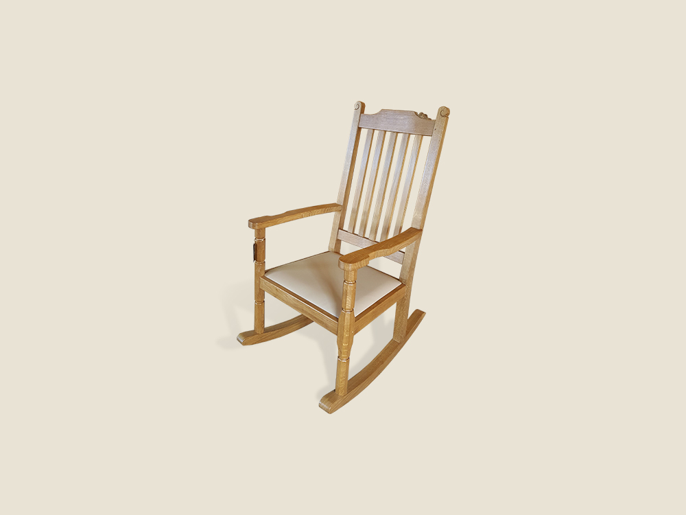 "BF221B ""Harewood"" Solid Oak Rocking Chair"