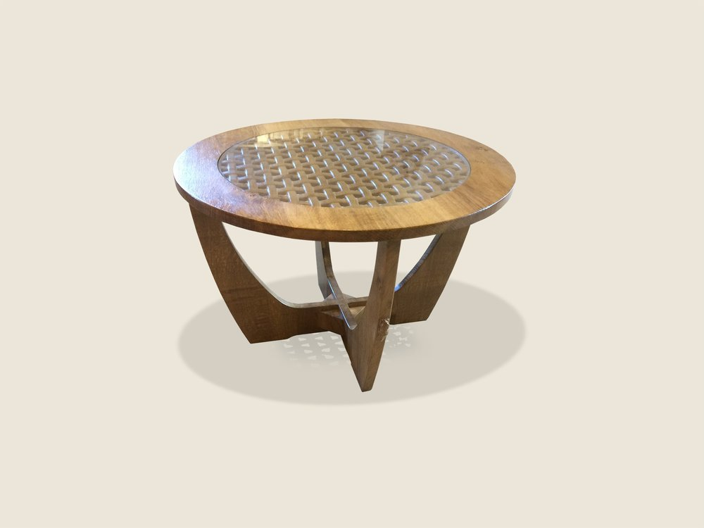 BF1019 Occasional Table with Carved Lattice Top