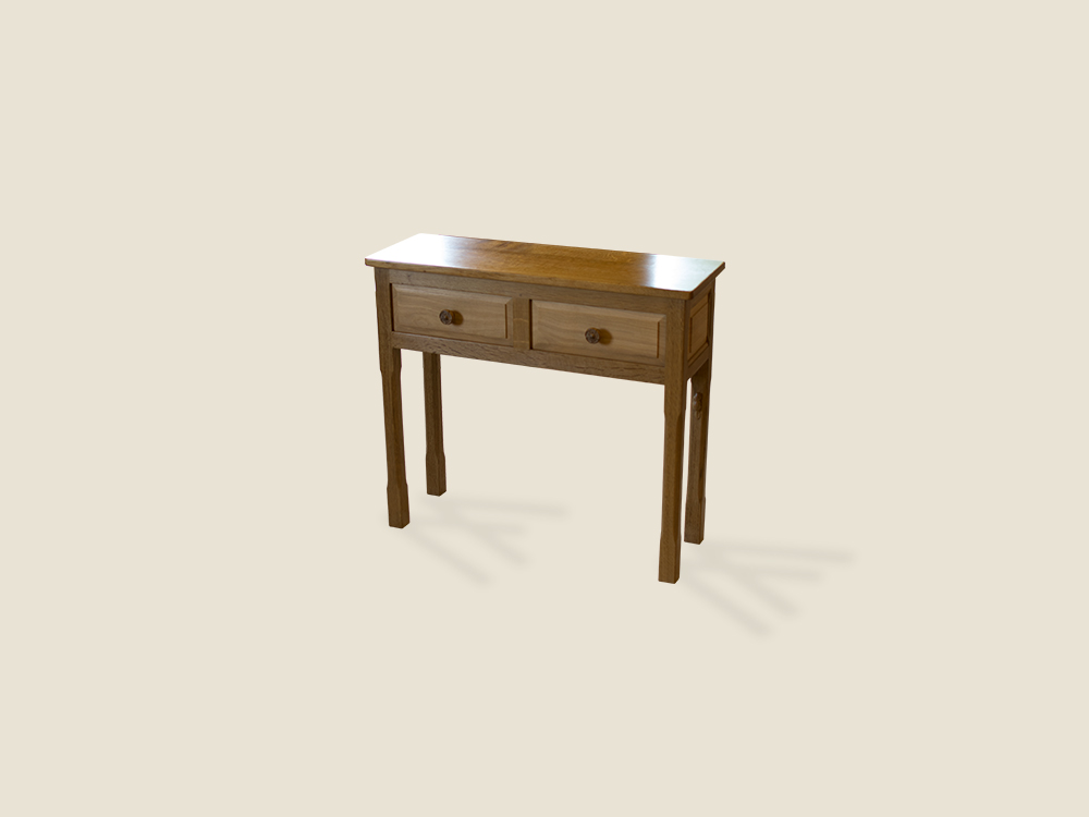 BF1018 Solid Oak Hall Table