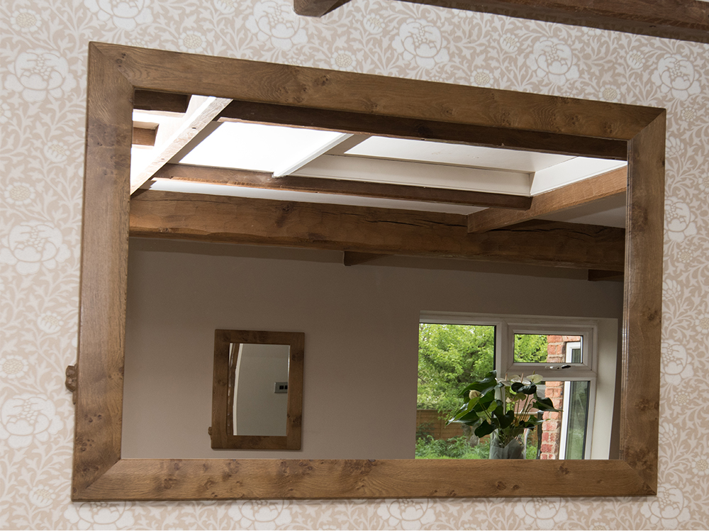 "BF1125 ""Pippy"" Oak Mirror"