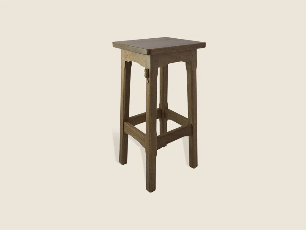 BF228 Solid Oak Breakfast Bar Stool with Wooden Seat