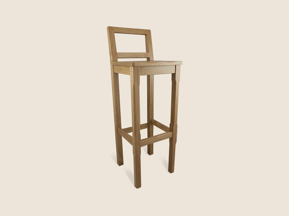 BF227 Solid Oak Breakfast Bar Chair