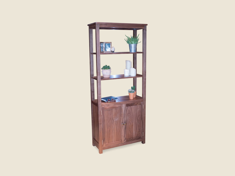 BF611 Walnut Display Cabinet