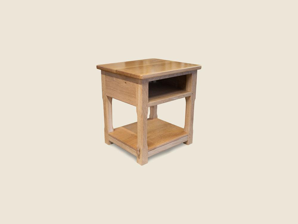 BF714 solid Oak Bedside Cabinet