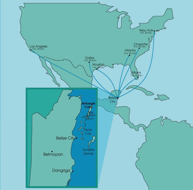 Direct Flights to Belize from the United States.