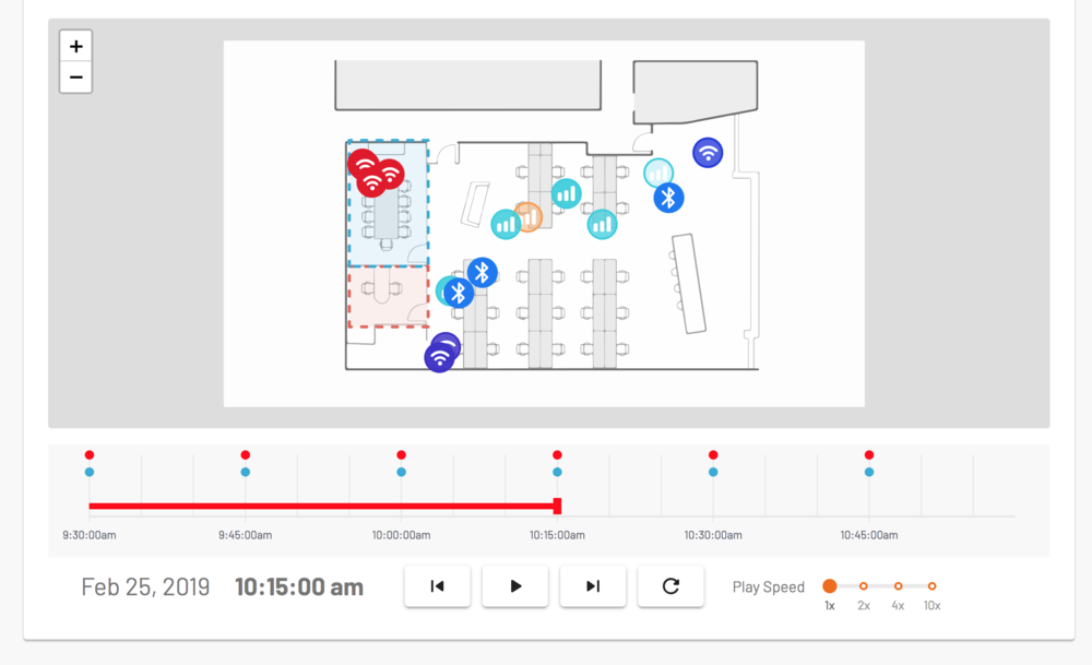 Bastille's Cellular Intrusion Detection includes DVR functionality to record historic cell phone, Wi-Fi and Bluetooth devices location for forensic investigations