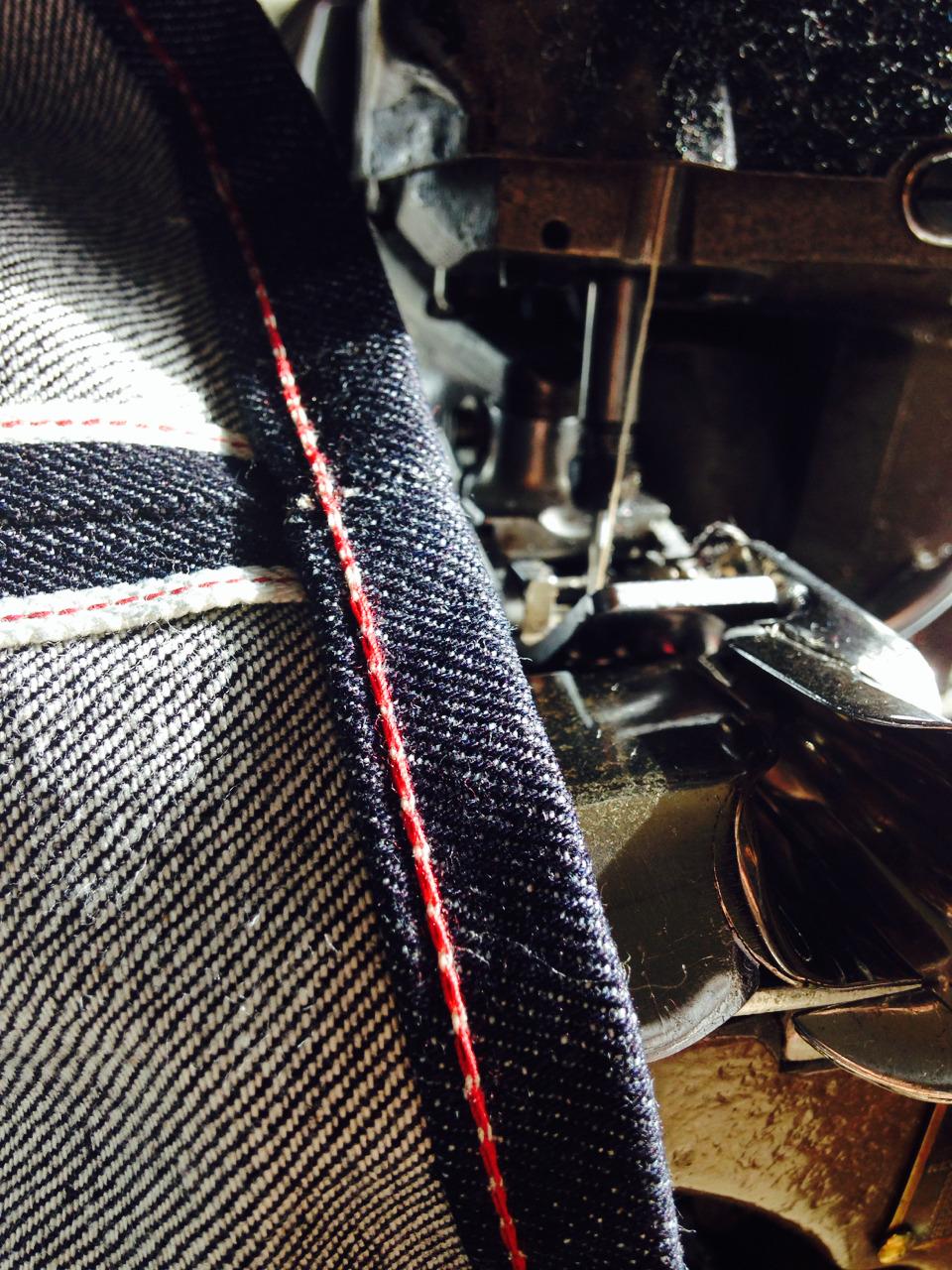 dawsondenim :     Dawson denim jeans hemmed on our 1959 union special 43200g