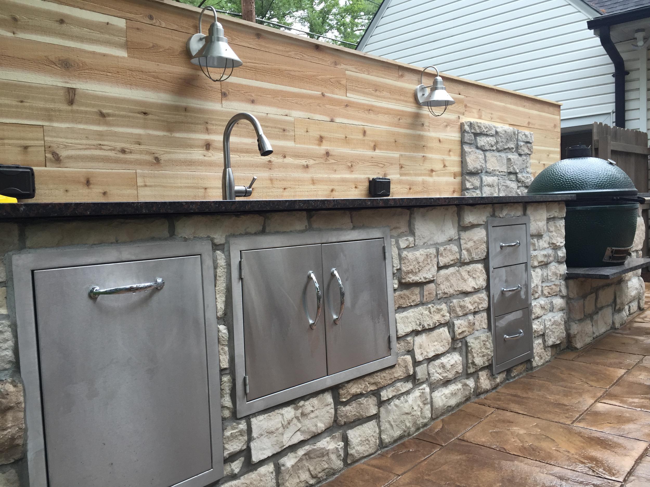 Big Green Egg Outdoor Kitchen — Luna Builds