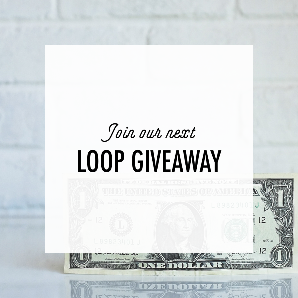 Every month we give away between $500 and $1000 CASH to one lucky entrant. Our followers LOVE these and enter like crazy! Shops who have participated in our loops see an average of 400 new followers per loop!