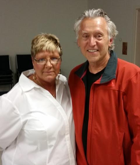 Max Furek and with guest speaker Cathy Ryzner at last evening's Berwick Anti Drug Alliance meeting.