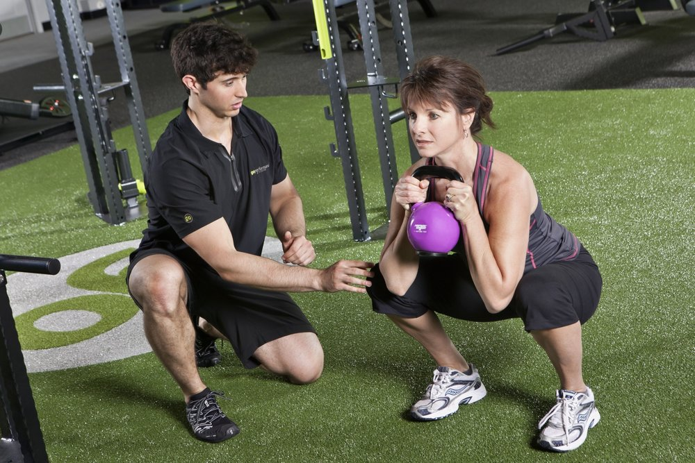 Personal Trainer with Client