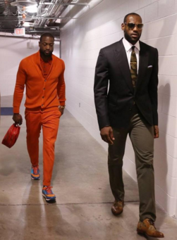 Good friends Dwayne Wade (left) and Lebron James (right)