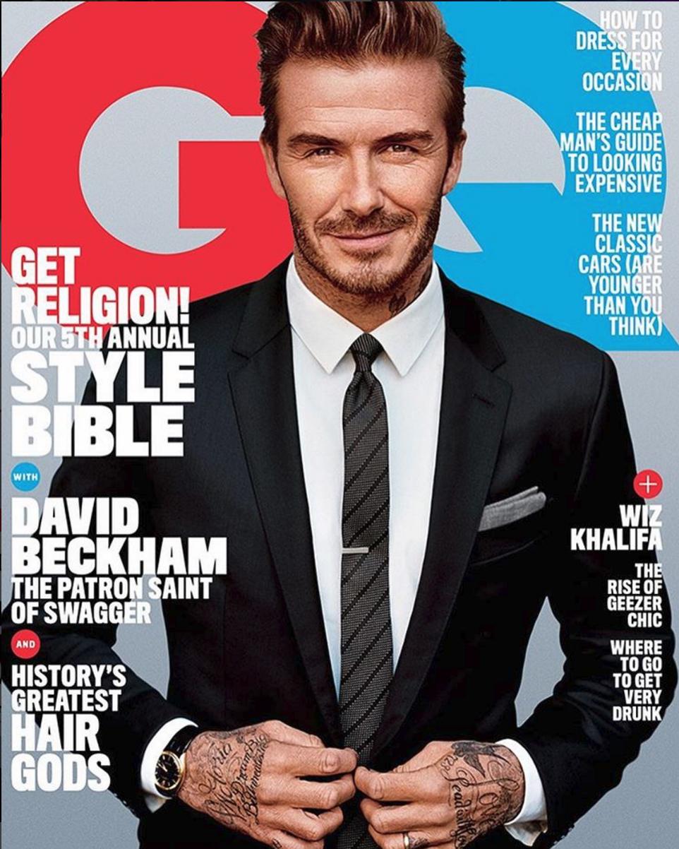 David Beckham April 2016 GQ Cover
