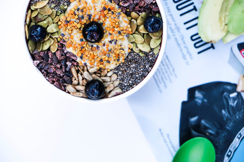 Keto Acai Bowl at Hi-Vibe. Photo by VibeTribe Creative