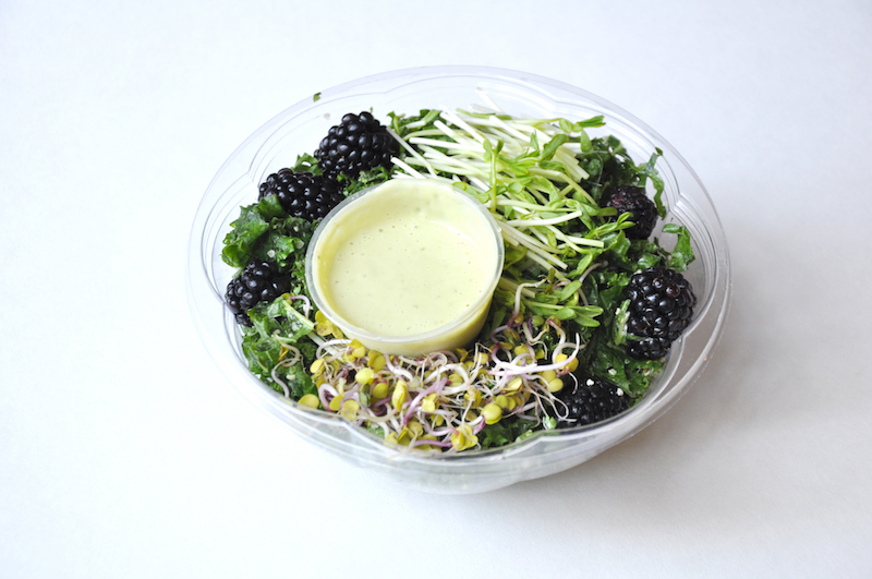 Hi-Vibe Chicago Kale Salad with Sprouts