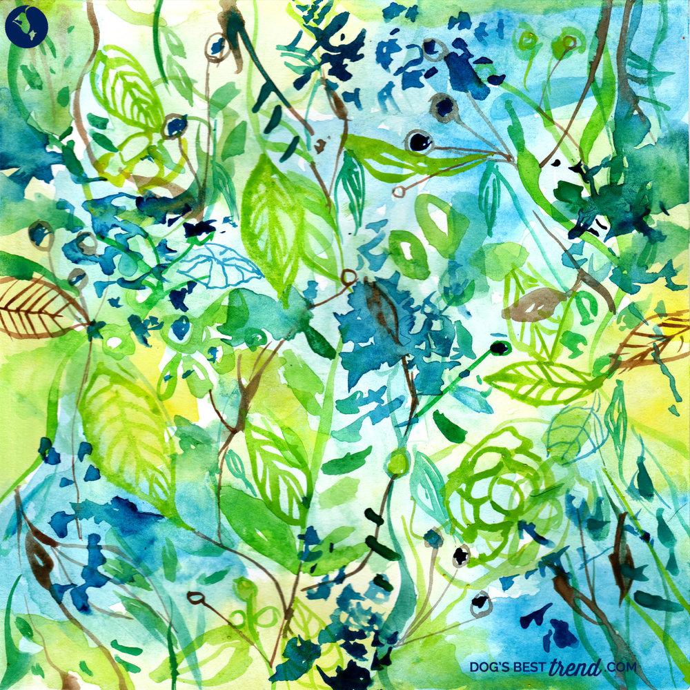 Leaves in Watercolor