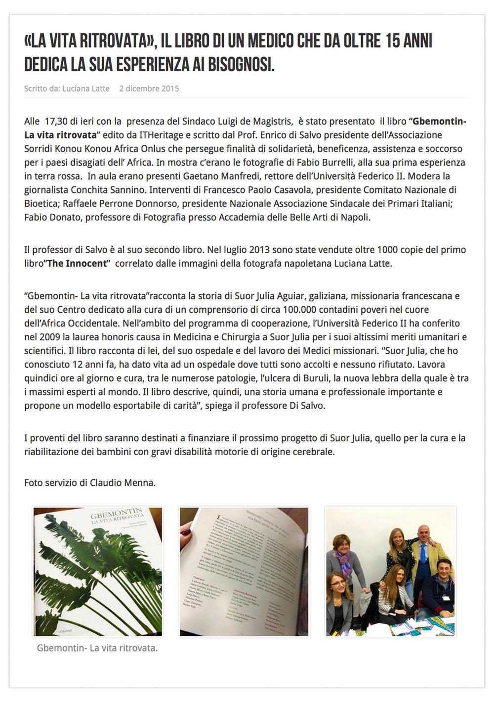 Gbemontin - Back again to life  http://www.linkazzato.it/la-vita-ritrovata-il-libro-di-un-medico-che-da-oltre-15-anni-dedica-la-sua-esperienza-ai-bisognosi/