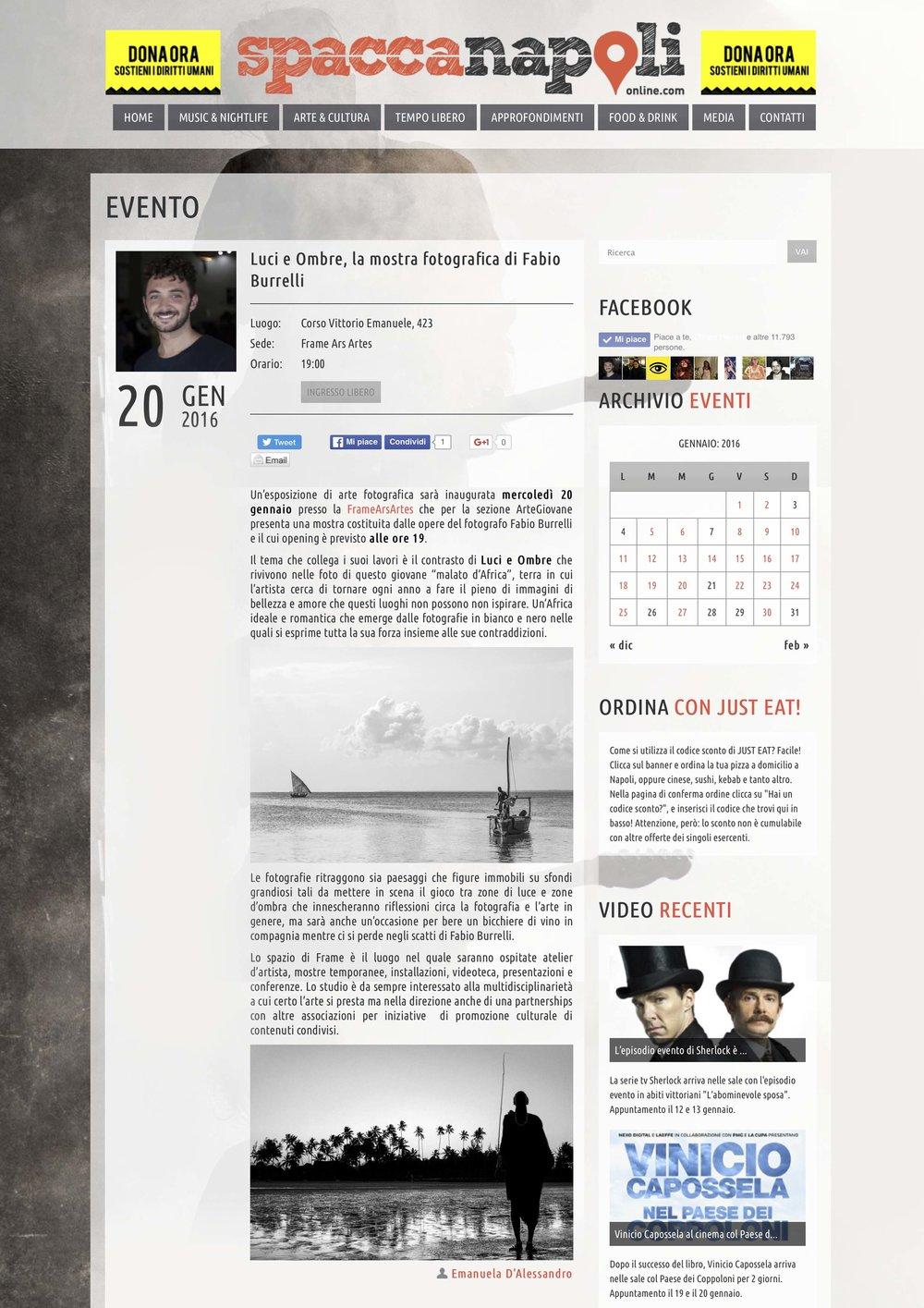 Luci e ombre   http://www.spaccanapolionline.com/event/luci_ombre_mostra_fotografica_fabio_burrelli/