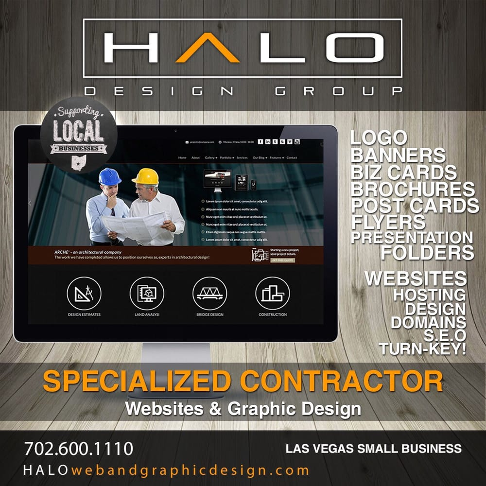 Wesbites tailored for Construction Companies and Contracting Firms are a specialty for Halo Design Group.