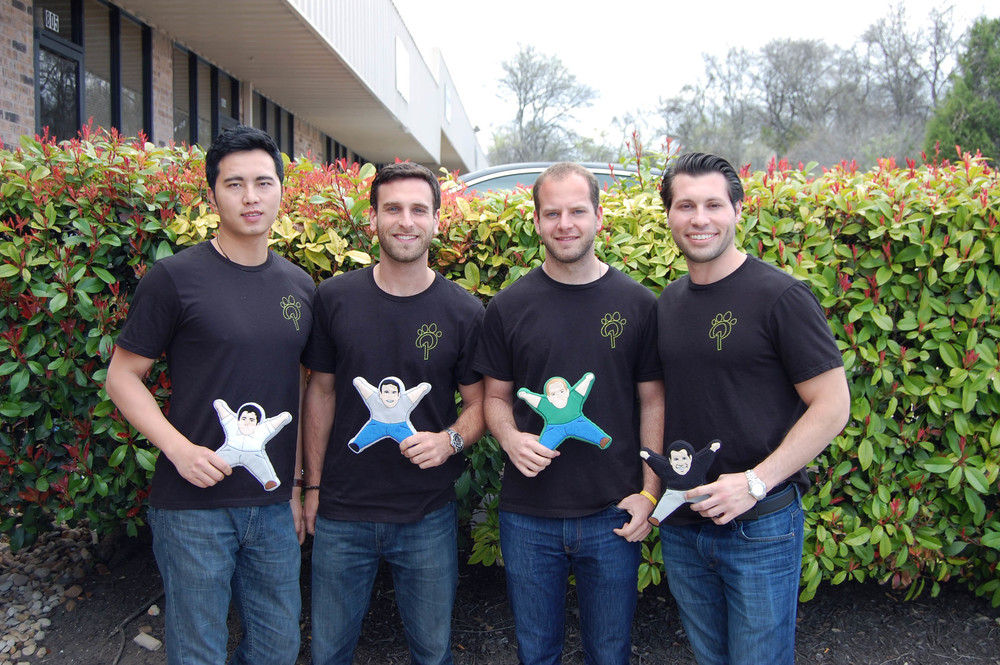 Ting Liu, Sean Knecht, Sam Lampe, and Steven Blustein, co-founders of PrideBites.