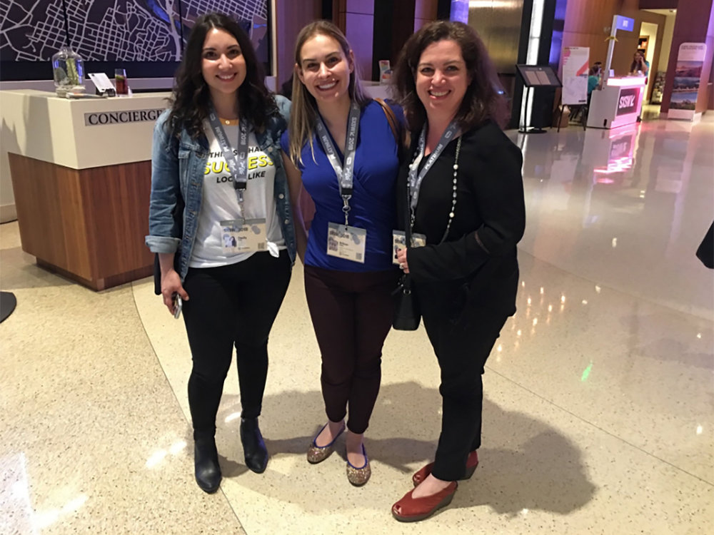 From left to right, Cecily Gold (Senior Manager of Community Experience at Bumble), Brittan Heller (ADL's Director of the Center for Technology and Society), and Renee Lafair (ADL Austin Regional Director). Courtesy of ADL Austin
