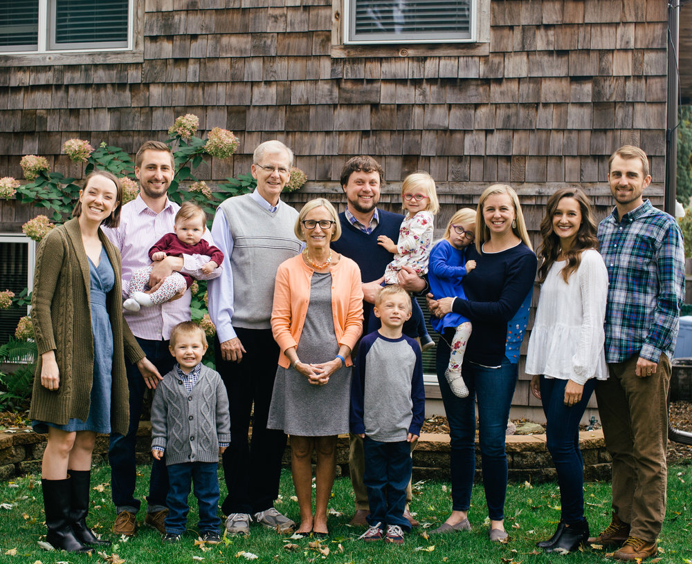 Hannah came to our house in October &met the 8 adults & 5 grandkids in our family, most for the first time. She quickly warmed up to everyone & began snapping photos of our large group, plus lots of small groups & individuals. One of her many strengths is that she puts you so at ease that you don't even realize she is framing some magical memories! The weather wasn't what we had hoped for but you would never know it from the final results. We are already planning another photo shoot in the summer because the grandkids really responded to her and they are growing up too fast!  -Sara Herrick