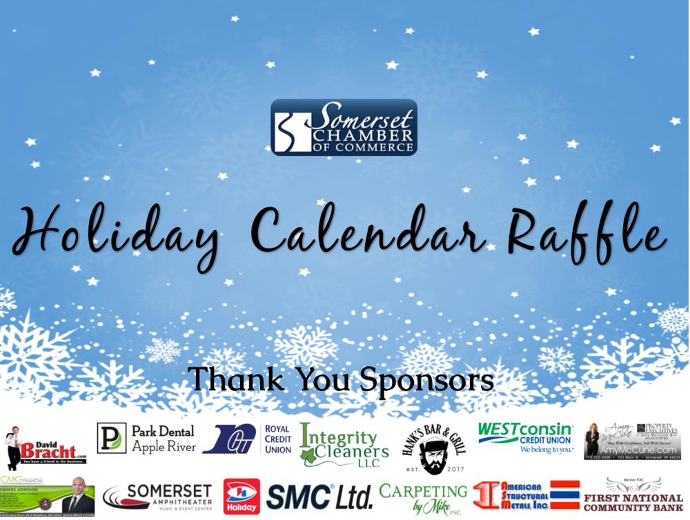 Congratulations! - 2017 Holiday Calendar Raffle Winners