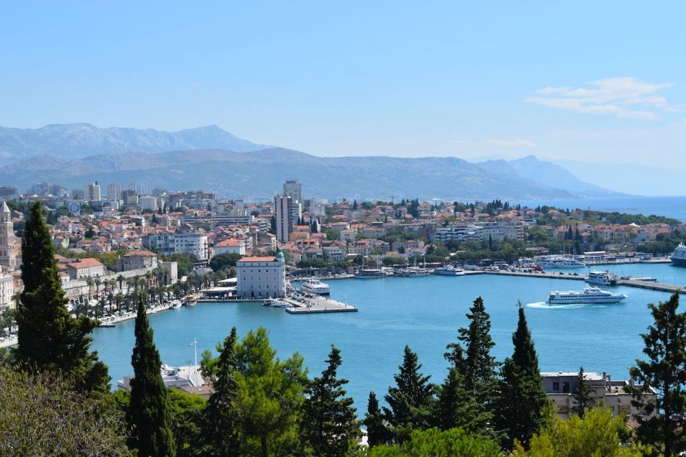 split, croatia, from Marjan hill