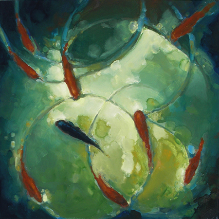 "TALISMAN 8 (2009) oil on canvas, 24"" x 24"" Private collection"