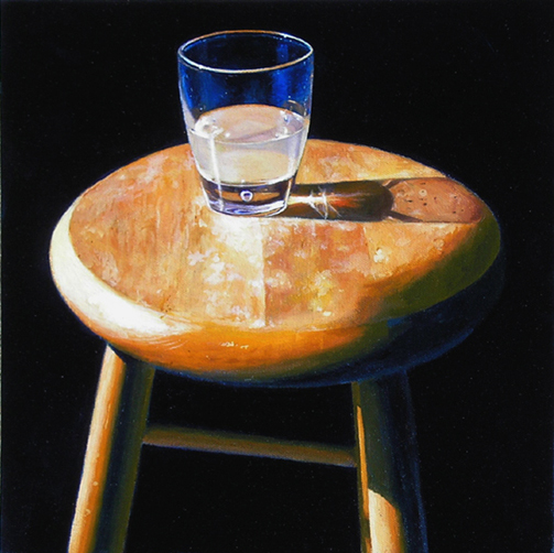 "ABSINTHE 2 (2010) oil on canvas, 12"" x 12"" private collection"