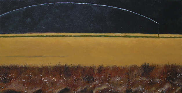 "FIELD (2006) acrylic on canvas, 15"" x 30"" $600."