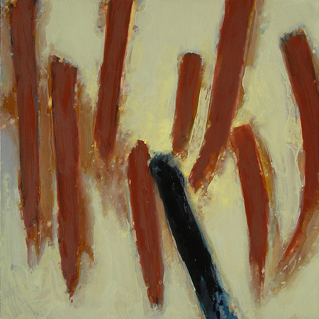 "TALISMAN 4 (2009) oil on canvas, 24"" x 24"" $800."