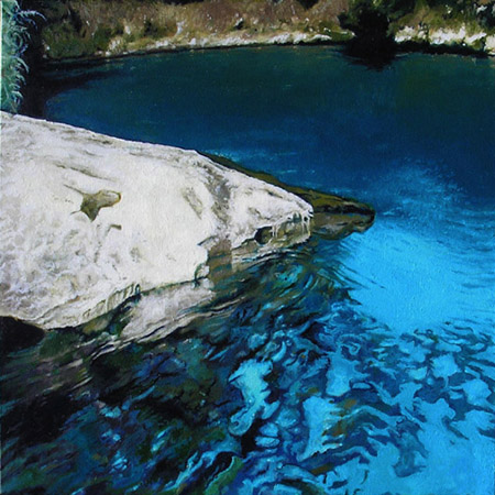 "ECONFINA B (2008) oil on canvas, 24"" x 24"" Private collection"
