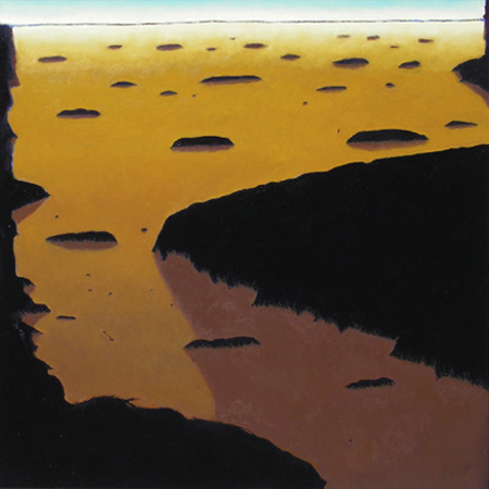 "DELTA (2008) oil on canvas, 24"" x 24"" Private collection"