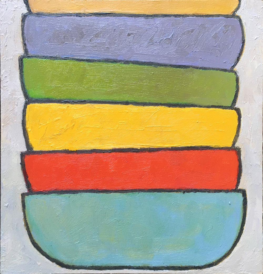 #5 (2018), oil on MDF board, 21cm x 20cm. Price on request.