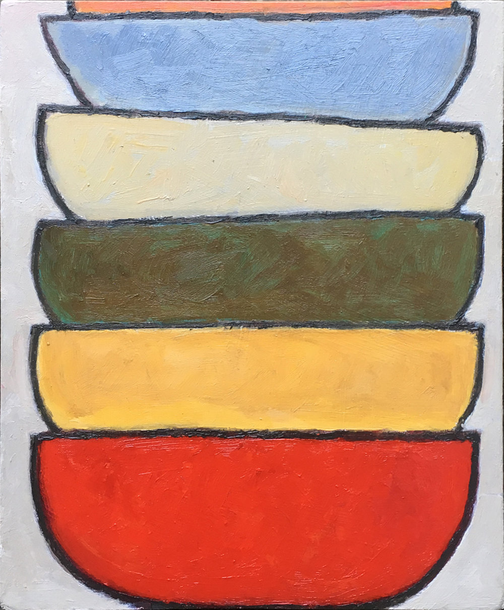 #6 (2018), oil on MDF board, 19cm x 23cm. Price on request.