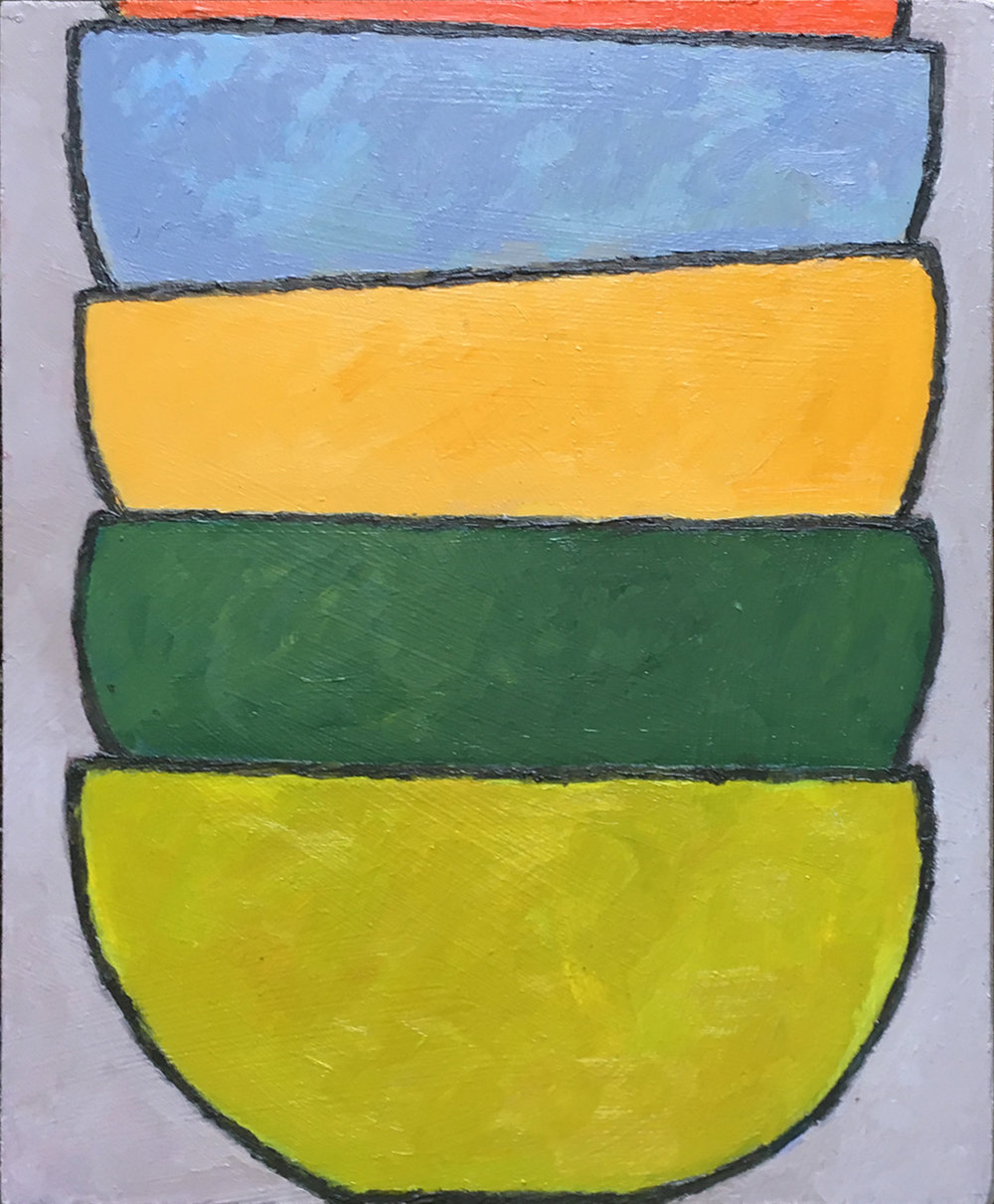 #8 (2018), oil on MDF board, 23cm x 19cm. Price on request.