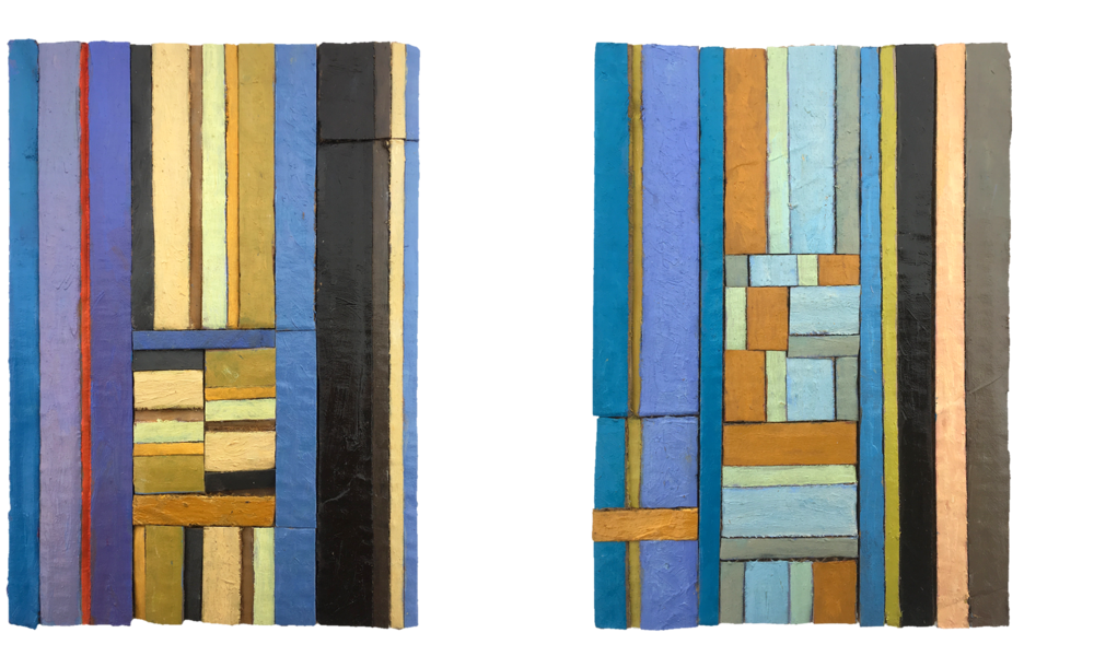 "Left: ""Billy Preston"" Right: ""¾ November"" Both 2018, oil on cardboard, 148 x 210mm, prviate collection."