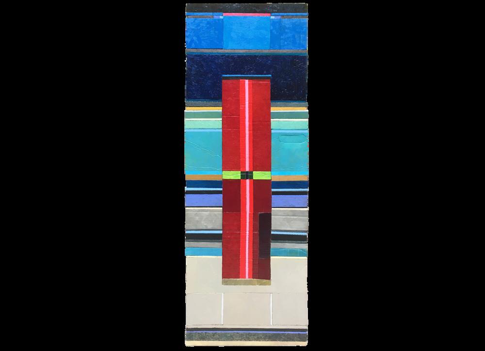 EVENING TERMINAL (2018) oil on cardboard on wood 47cm x 116cm €700.