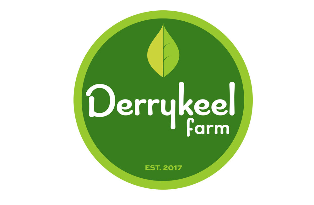 DERRYKEEL FARM:  logo for organic farm and product range.