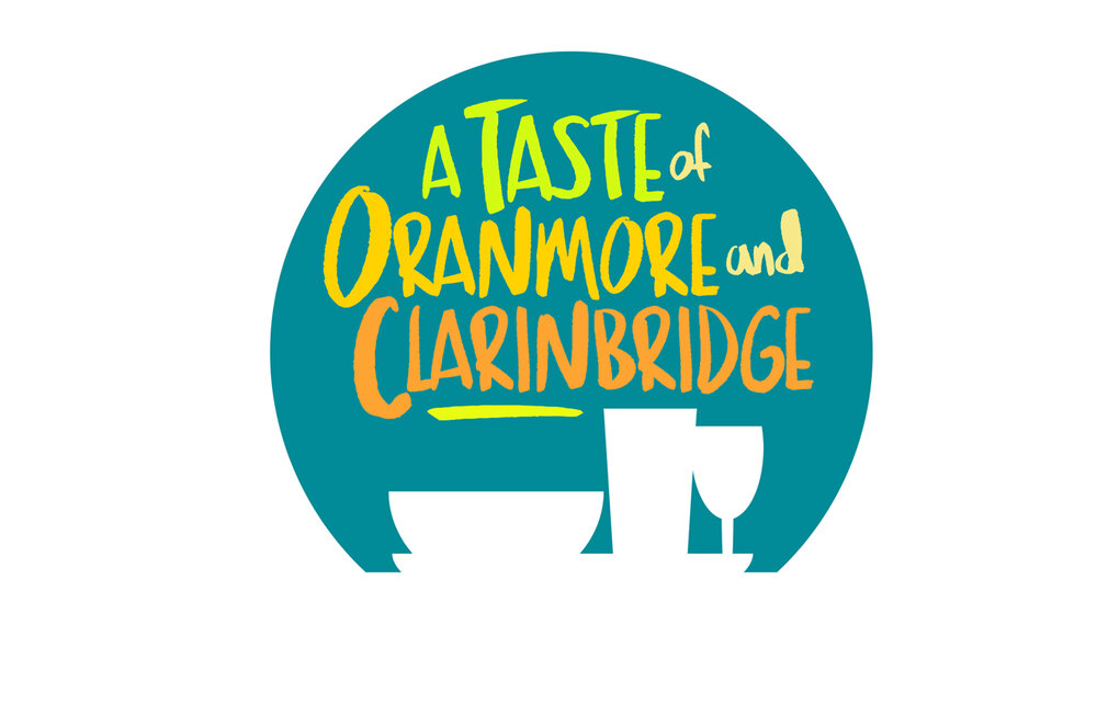 A TASTE OF ORANMORE AND CLARINBRIDGE: Logo for a series of food and beverage events.