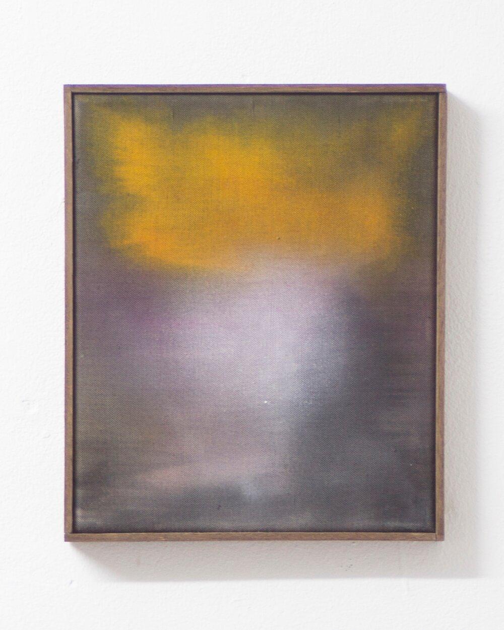 head down ,  (2016) acrylic on canvas 30cm X 25cm