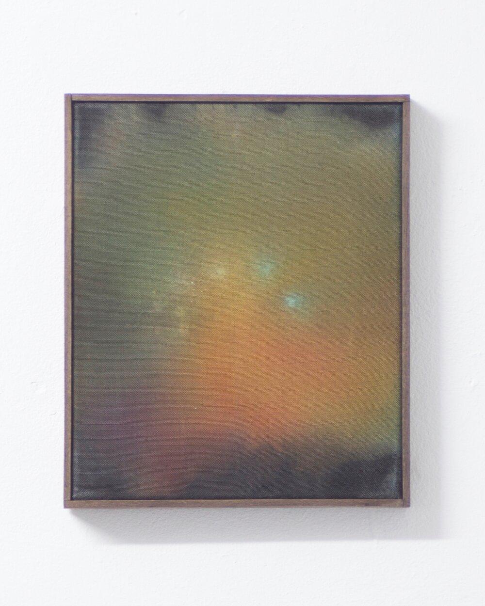 the nerve doesn't crackle,  (2017) acrylic on canvas 30cm X 25cm