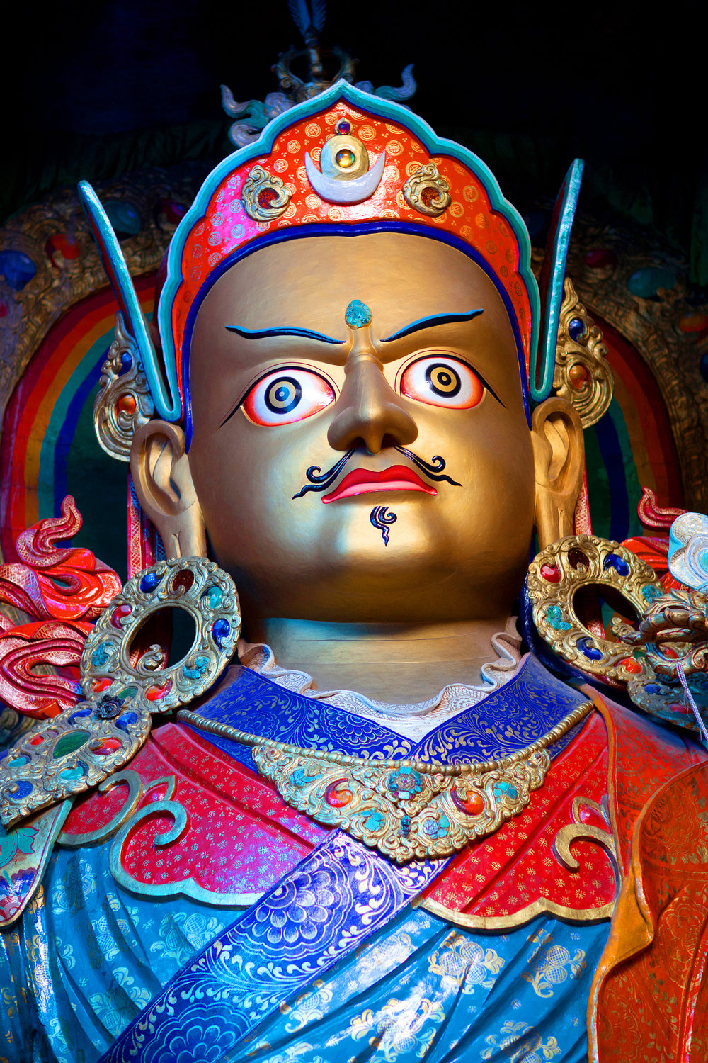 Guru Rinpoche - Padmasambhava, a great 8th century Buddhist master and founder of the Nyingma lineage of Tibetan Buddhism