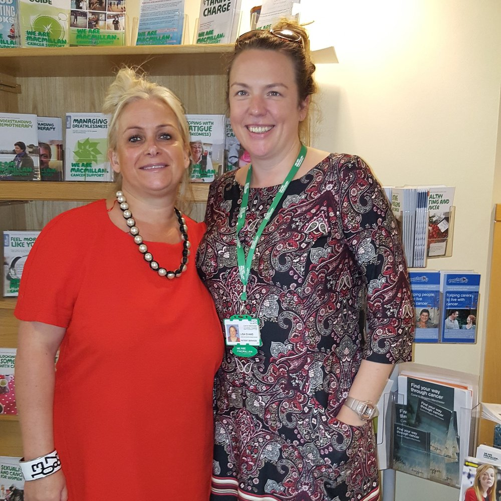 Blair And Lisa (Macmillan Nurse) Manchester Royal Infirmary