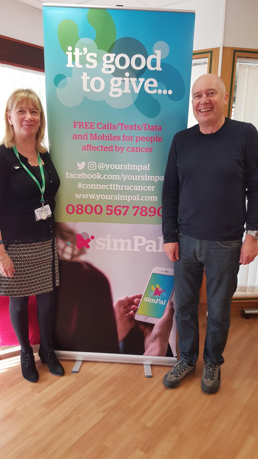 With Nicola Neale (Macmillan Nurse) @ Wexham Park Hospital
