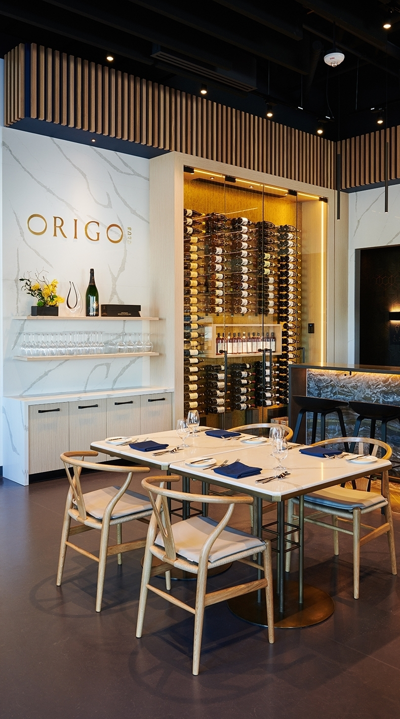 EXCLUSIVE NEW RESTAURANT, CAFÉ AND ART GALLERY CONCEPT 'ORIGO CLUB' OPENS ITS DOORS IN RICHMOND - June 27, 2018The team at Origo Club is pleased to announce that its highly anticipated new restaurant, café and art gallery concept will officially open in Richmond's Oval Village this Thursday, June 28.During the day, Origo Club invites fans of the laidback café and bistro lifestyle to sample a menu of fresh-baked viennoiseries and lighter fare. Pour-over specialty coffees and espresso-based beverages courtesy of one of only four state-of-the-art Modbar brewing systems currently in use in BC are also a highlight, as well as aromatic black, green, herbal or pu-erh teas.When night falls, Origo Club's classically trained chefs will tempt eye and palate with a menu of French-inspired fare served in the comfort and luxury of its main dining space and two private rooms. Behind the bar, a handpicked list of French wine and exclusive selection of Barons de Rothschild Champagne beckons, as well as an array of classic and house cocktails, imported saké and whiskies from around the world.