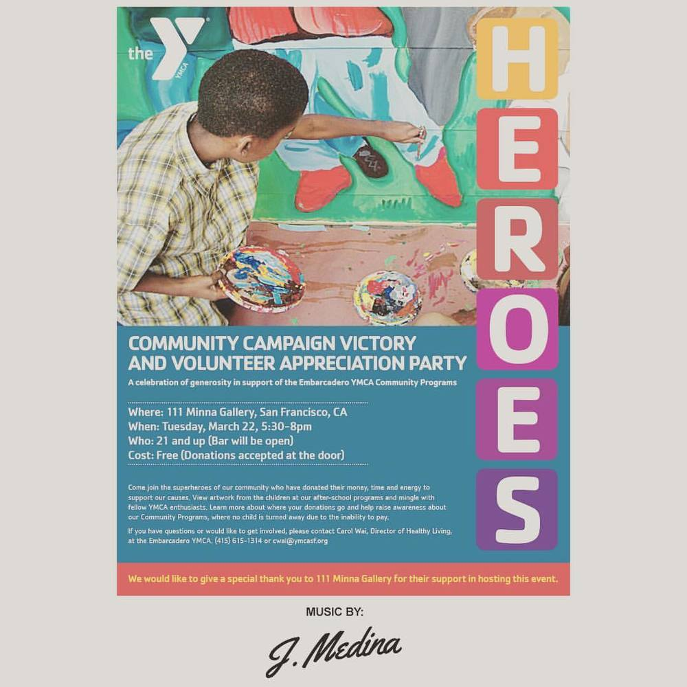 Tomorrow dropping some beats for an amazing cause. Come out to 111 Minna for a YMCA Fundraiser. #giveback #fundraiser #community #happyhour #heroes #bayareadisco #disco #soul #funk #nudisco #housemusic